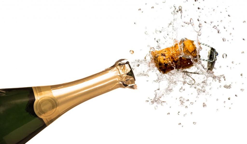 Champagne qui saute