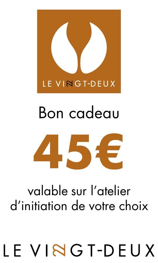 Bon cadeau atelier de 45€